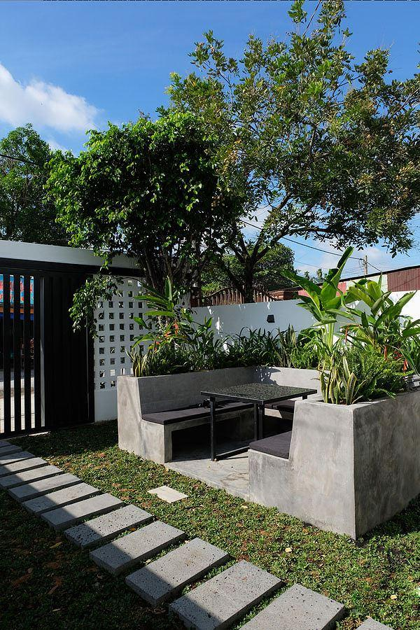 Cải tạo nhà cấp 4 với sân vườn tiểu cảnh